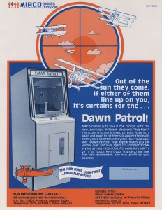 Dawn Patrol US Flyer - manufactured by Mirco Games